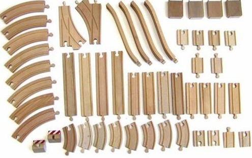 Brio houten trein rails 50 stuks 33772-1