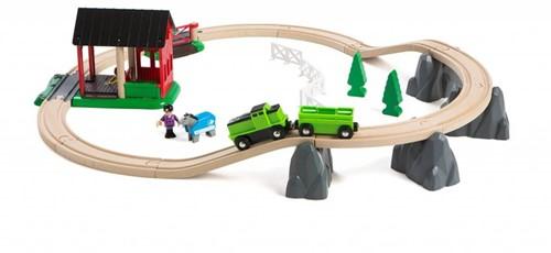 Brio  houten trein set Trein- en paardrij set 33790-1