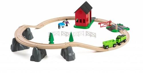 Brio  houten trein set Trein- en paardrij set 33790-3