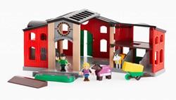 Brio  houten trein accessoire Paardenstal met accessoires 33791