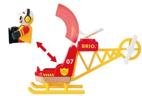 BRIO trein Brandweer helikopter 33797-2