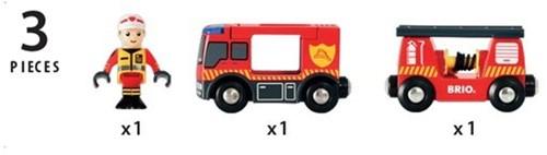 BRIO trein Brandweer locomotief 33811