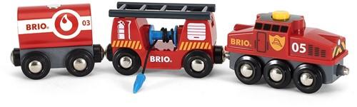 BRIO trein Trein van de brandweer 33844