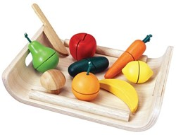 Plan Toys houten keuken accessoires Assorted fruit & vegetable