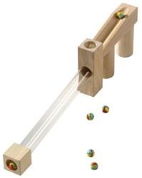 Haba  houten knikkerbaan accessoires Uitbreiding Glastunnel 3501