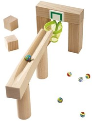 Haba houten knikkerbaan accessoires Uitbreiding Basketbalkorf 3543