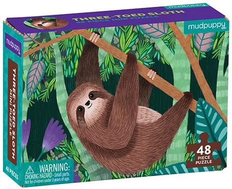 Mudpuppy Mini Puzzle/Three-Toed Sloth