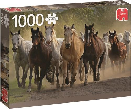 Jumbo puzzel Team Of Horses - 1000 stukjes
