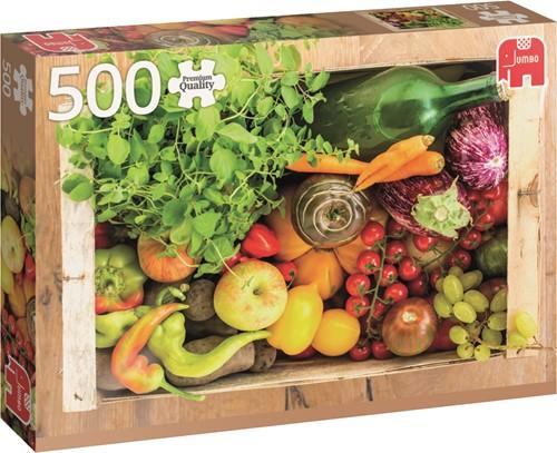 Jumbo puzzel Fruit And Vegetable Box - 500 stukjes