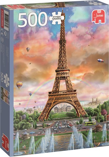 Jumbo puzzel Frankrijk -  Eiffel Tower Paris - 500 stukjes