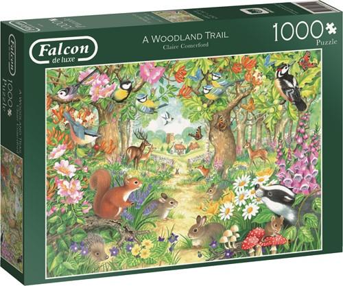 Jumbo puzzel Falcon A Woodland Trail - 1000 stukjes
