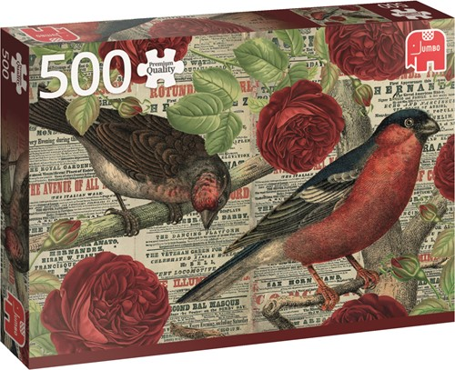 Jumbo puzzel Birds Love Flowers - 500 stukjes
