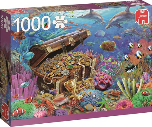 Jumbo puzzel Underwater Treasure - 1000 stukjes