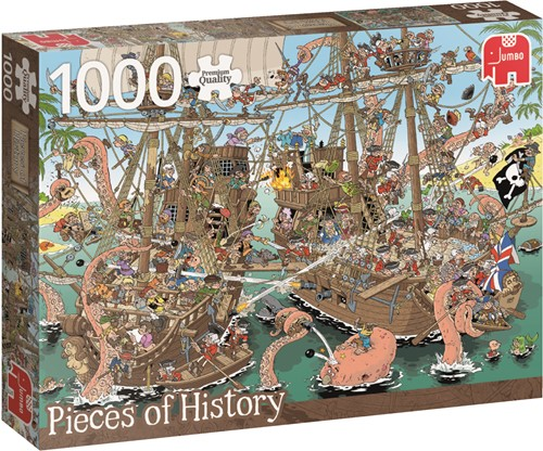 Jumbo puzzel Geschiedenis -  The Pirates - 1000 stukjes