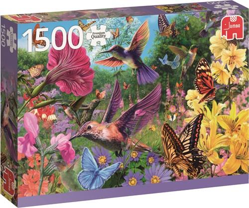 Jumbo puzzel Hummingbird Garden - 1500 stukjes