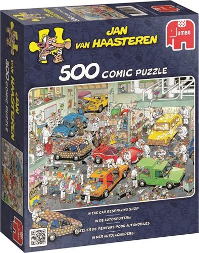 Jumbo puzzel Jan van Haasteren In de Autospuiterij - 500 stukjes
