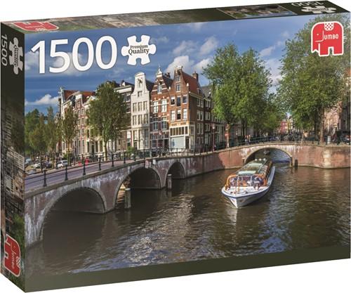 Jumbo puzzel Nederland -  Herengracht Amsterdam - 1500 stukjes
