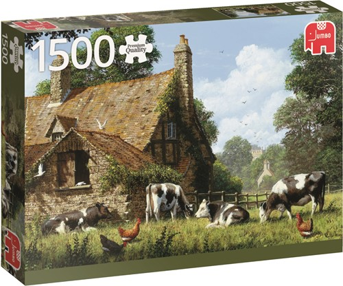 Jumbo puzzel Cows At A Farm - 1500 stukjes