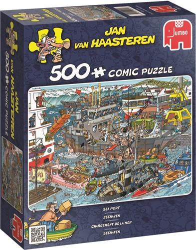 Jumbo puzzel Jan van Haasteren Zeehaven - 500 stukjes