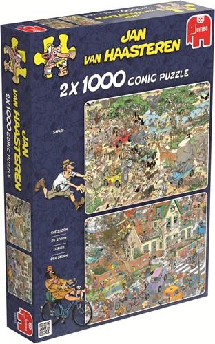 Jumbo puzzel Jan van Haasteren Safari & Storm 2in1 - 2x1000 stukjes