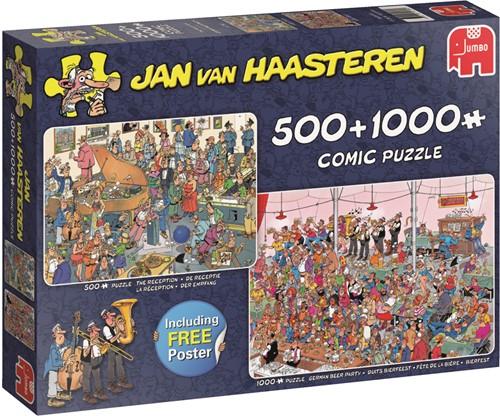 Jumbo puzzel Jan van Haasteren Feestje! 2in1 500&1000 stukjes