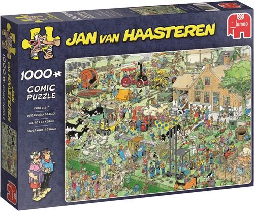 Jumbo puzzel Jan van Haasteren Boerderij Bezoek - 1000 stukjes