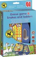 Jumbo Ganzenbord & Slangen en Ladders Compact