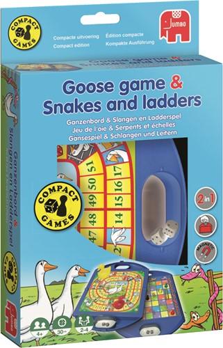 Jumbo spel Ganzenbord & Slangen en Ladders Compact