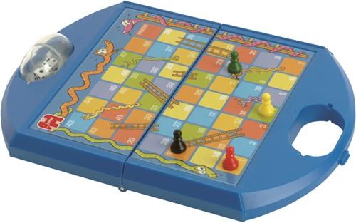 Jumbo spel Ganzenbord & Slangen en Ladders Compact-2