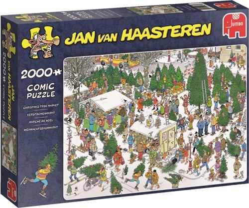 Jumbo puzzel Jan van Haasteren Kerstbomenmarkt - 2000 stukjes