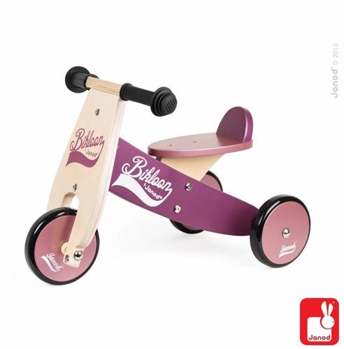Janod  houten driewieler loopfiets Bikloon Paars-1