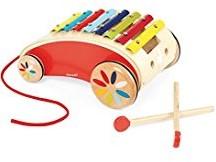 Janod  houten duwstok Tatoo - red xylo roller