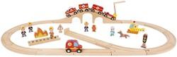 Janod  Story houten trein set Express - de brandweer m