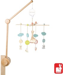 Janod Sophie de giraffe - mobiel met houten draagarm
