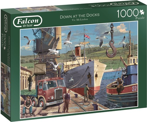 Jumbo puzzel Falcon Down at the Docks - 1000 stukjes
