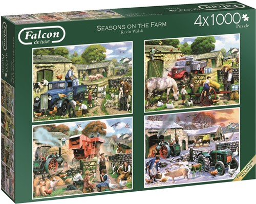 Jumbo puzzel Falcon Seasons on the Farm - 4x1000 stukjes