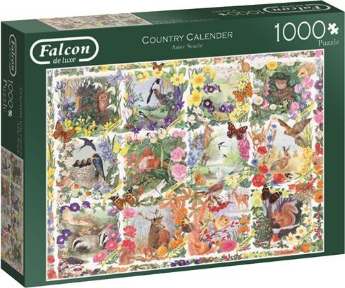 Jumbo puzzel Falcon Country Calendar - 1000 stukjes