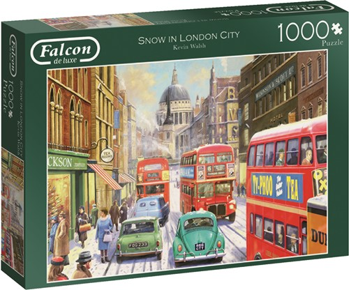Jumbo puzzel Falcon Snow in London City - 1000 stukjes