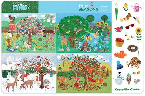 Crocodile Creek Placemats - Four Seasons