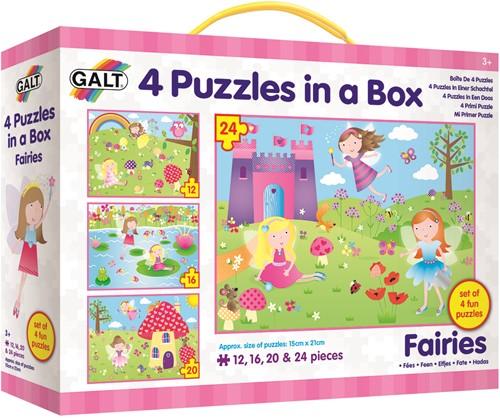 Galt 4 puzzels in een doos - Elfjes
