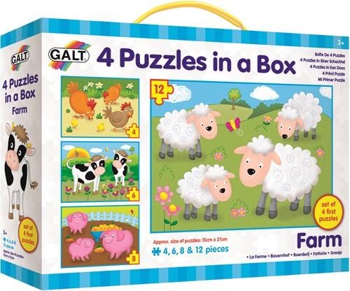 Galt 4 puzzels in een doos - Boerderij