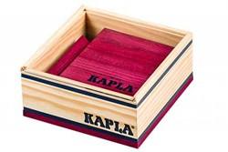 Kapla  houten bouwplankjes 40 wijnrood in kistje
