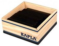Kapla  houten bouwplankjes 40 zwart in kistje-2