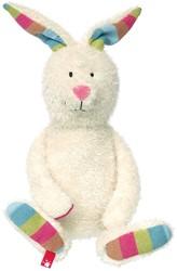 Sigikid  pluche knuffel Bunny White Patchwork Sweety - 26 cm