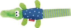 Sigikid  pluche knuffel Textille clip crocodile - 17 cm