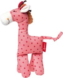 sigikid knuffeldier giraf roze 41671