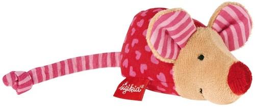 sigikid Rammelaar muis pink, Red Stars