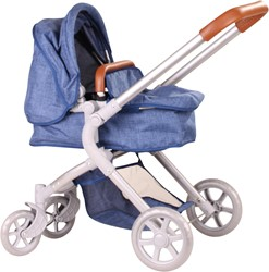 Götz accessoires Doll stroller 4-wheel, 2 in 1, denim