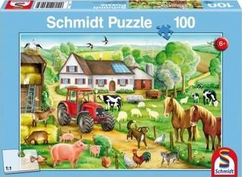 Schmidt legpuzzel Vrolijk Boerenerf, 100 stukjes