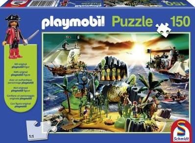 Schmidt Playmobil, Pirateneiland, 150 stukjes - Puzzel - 5+